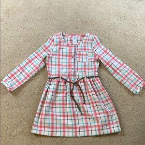 5T Toddler Girl Flannel Dress
